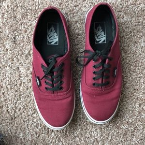Vans Canvas Low Tops Maroon Shoes